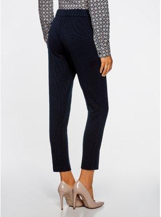 Nohavice z materiálu s výraznou textúrou s elastickým pásom OODJI