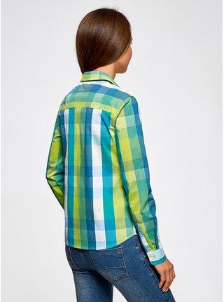Košile kostkovaná rovného střihu OODJI