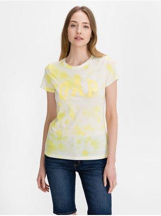 Žluté dámské tričko GAP Logo classic t-shirt