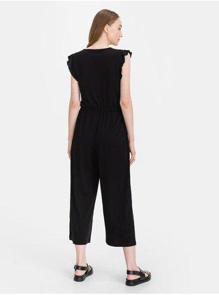 Černý dámský overal GAP wrap knit jumpsuit