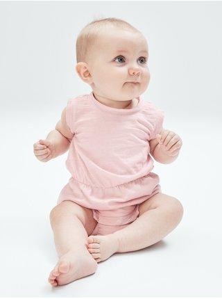Růžový holčičí overal Baby  good bubble one-piece