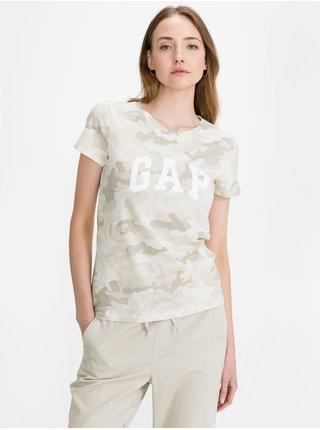Béžové dámské tričko GAP classic t-shirt