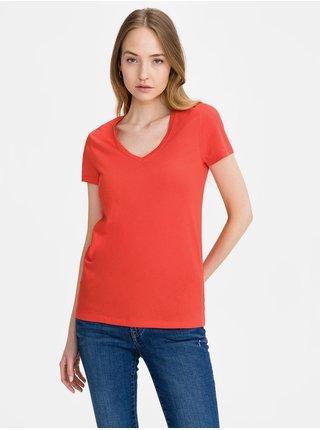 Červené dámské tričko GAP favorite v-neck t-shirt