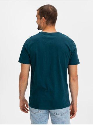 Modré pánské tričko GAP Logo bas arch t-shirt