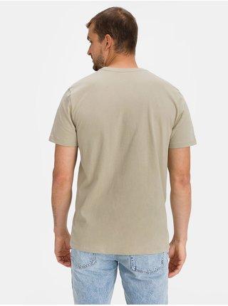 Béžové pánské tričko GAP Logo bas arch t-shirt