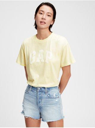 Žluté dámské tričko GAP Logo easy heavyweight t-shirt