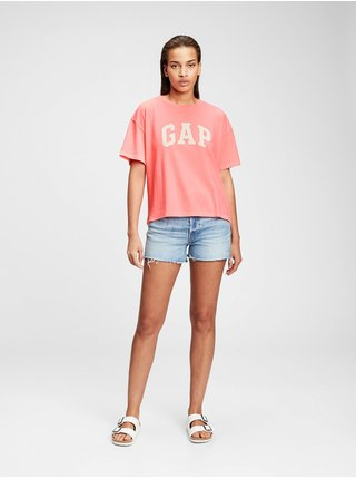 Červené dámské tričko GAP Logo easy heavyweight t-shirt