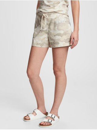 Béžové dámské kraťasy GAP Logo shorts