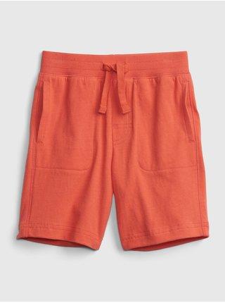 Červené klučičí dětské kraťasy 100% organic cotton mix and match pull-on shorts