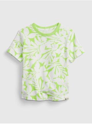 Zelené klučičí dětské tričko 100% organic cotton mix and match t-shirt