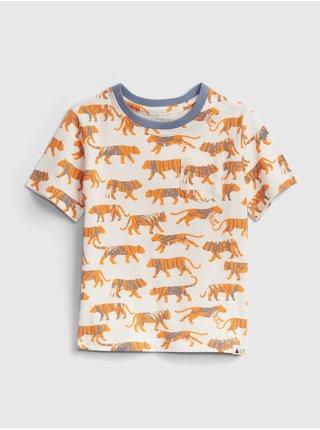 Žluté klučičí dětské tričko GAP 100% organic cotton mix and match t-shirt