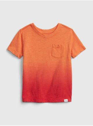 Oranžové klučičí dětské tričko GAP v-neck t-shirt