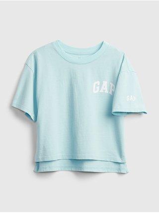 Modré holčičí dětské tričko GAP Logo updolx t-shirt