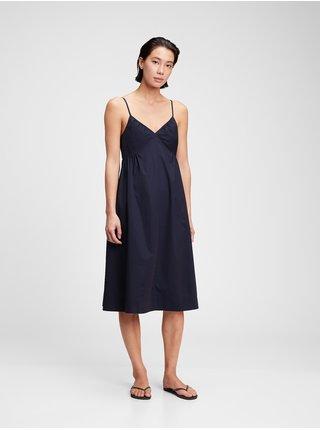 Černé dámské šaty GAP deep cami midi dress