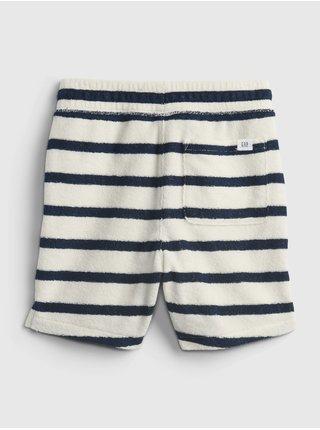 Šedé klučičí dětské kraťasy GAP stripe pull-on shorts
