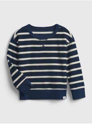 Modrá klučičí dětská mikina crewneck sweatshirt