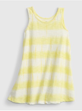 Žluté holčičí dětské šaty tank dress