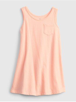 Oranžové holčičí dětské šaty tank dress