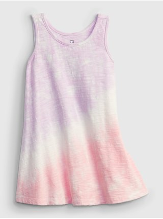 Růžové holčičí dětské šaty tie-dye tank dress