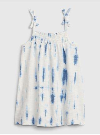 Bílé holčičí dětské šaty tie smock dress