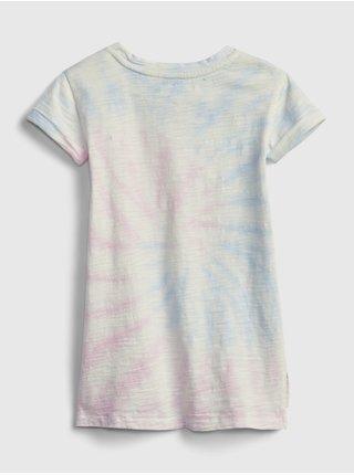Barevné holčičí dětské šaty t-shirt dress