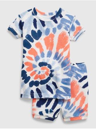 Barevné klučičí dětské pyžamo swirl tie-dye GAP