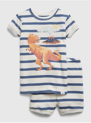 Bílé klučičí dětské pyžamo GAP dinosaur graphic
