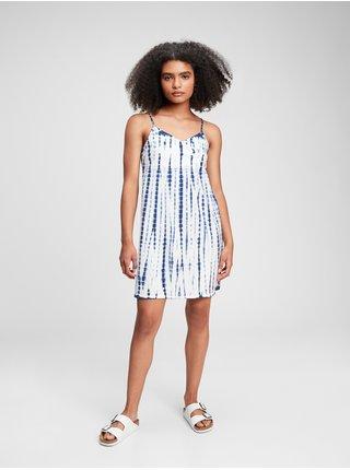 Modré holčičí dětské šaty surplice dress