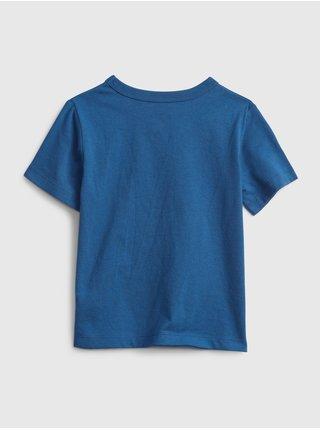 Modré klučičí dětské tričko 100% organic cotton mix and match graphic t-shirt