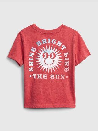 Červené klučičí dětské tričko short sleeve graphic t-shirt