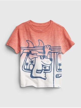 Barevné klučičí dětské tričko short sleeve graphic t-shirt GAP