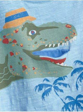 Modré klučičí tričko dinosaur graphic t-shirt