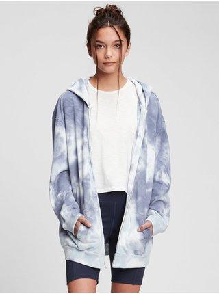 Modrá holčičí dětská mikina oversized tunic hoodie