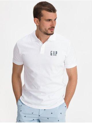 Bílé pánské polo tričko GAP Logo pique