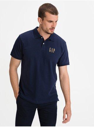 Modré pánské polo tričko GAP Logo pique