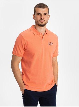Oranžové pánské polo tričko GAP Logo pique