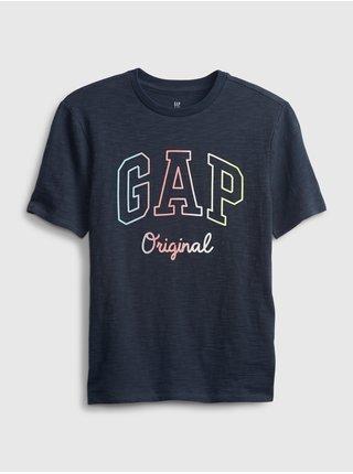 Modré klučičí dětské tričko GAP Logo t-shirt