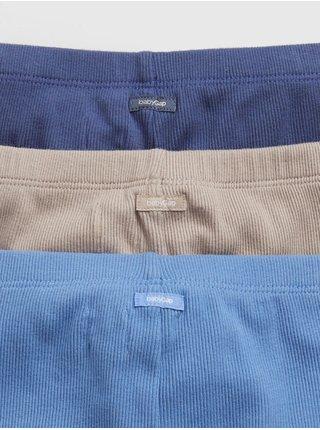 Modré holčičí baby tepláky 100% organic cotton pull-on pants (3-pack)