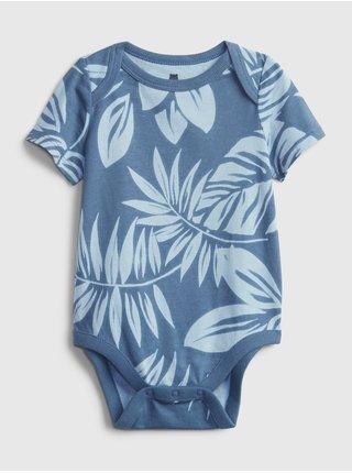 Modré klučičí baby body organic cotton mix and match print bodysuit