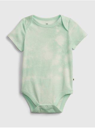Zelené klučičí baby body organic cotton mix and match print bodysuit