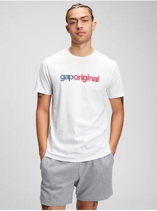 Bílé pánské tričko GAP Logo pocket t-shirt