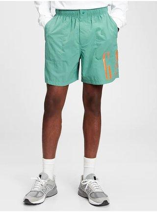 Zelené pánské kraťasy 6 nylon volume easy shorts