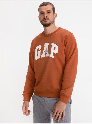 Červená pánská mikina GAP Logooriginal arch crew