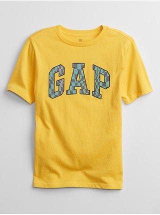 Žluté klučičí dětské tričko GAP Logo interact graphic t-shirt