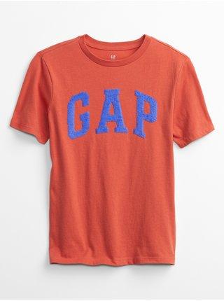 Červené klučičí dětské tričko GAP Logo interact graphic t-shirt