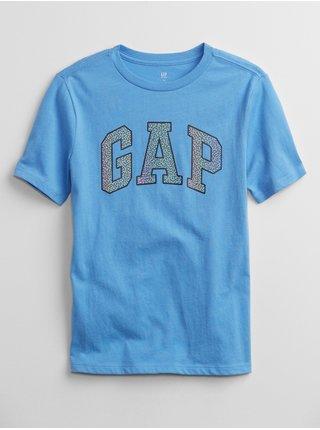 Modré klučičí dětské tričko GAP Logo interact graphic t-shirt