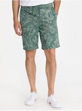 Zelené pánské šortky print easy shorts GAP