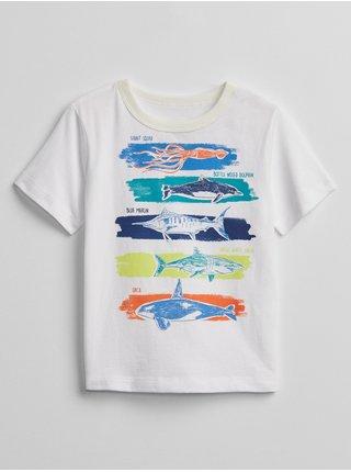 Bílé klučičí dětské tričko mix and match graphic t-shirt