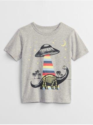 Šedé klučičí dětské tričko GAP mix and match graphic t-shirt