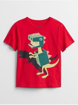 Červené klučičí dětské tričko mix and match graphic t-shirt